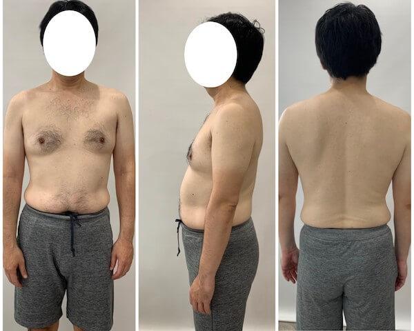 2ヶ月間のダイエット前の男性の写真