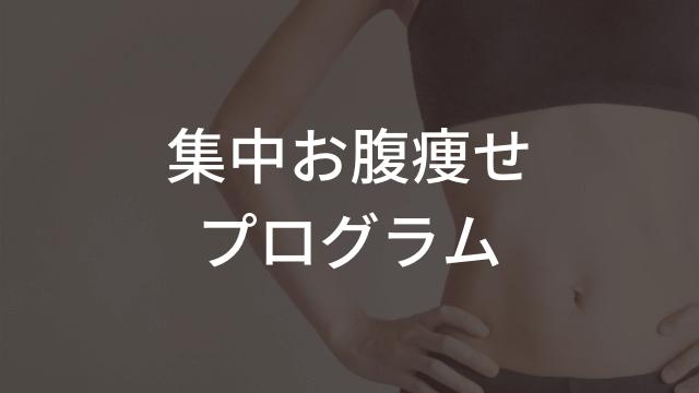 集中お腹痩せプログラム